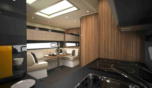 The dinette inside Azimut Atlantis 43