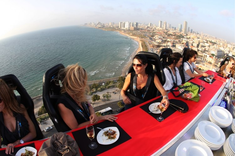 Dinner in the Sky at Jaffa, Israel
