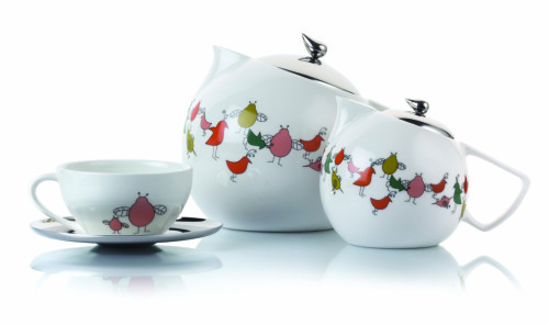 The Bird Range Tea and Saucer set by arttd'inox is priced at Rs. 4,675.