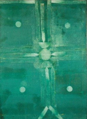 Untitled by Vasudeo S. Gaitonde. Oil on canvas,1998. SIze: 139.7x101.6cm.