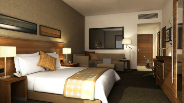 Hyatt Place Gurgaon/Udyog Vihar has 176 rooms furnished with 42-inch HDTVs and the Hyatt Grand Bed.