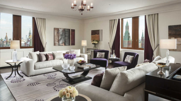 The Grand Premier Suite of Four Seasons Moscow offers picture postcard views
