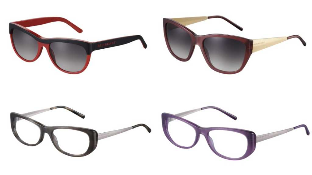 Burberry Autumn Winter Eyewear Collection  for Women - Top Left: BE4174; Top Right: BE4174; Bottom Left: BE2168; Bottom Right: BE2168