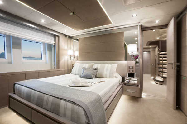 The Lower Deck of Veloce 140' has five cabins