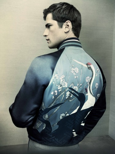 It takes Brioni 45 days to create this hand-painted bomber.