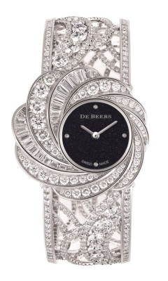 De Beers Aria High Jewellery Cuff Watch