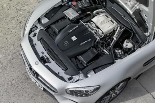 V8 biturbo engine of Mercedes AMG GT