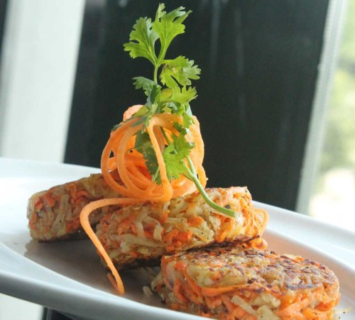 New Year Parties: Potato, papaya and carrot tikki at Radisson Blu