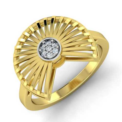 Stylised Japanese Fan Diamond Ring by Payal Pratap