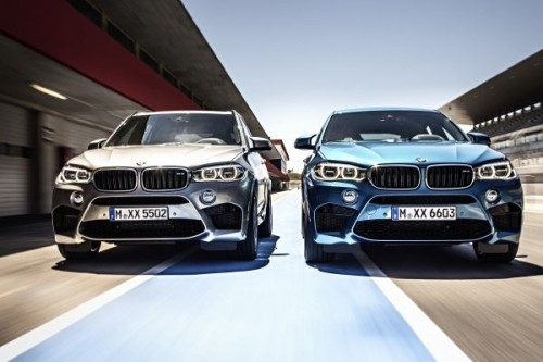 The new BMW X5 M and X6 M.