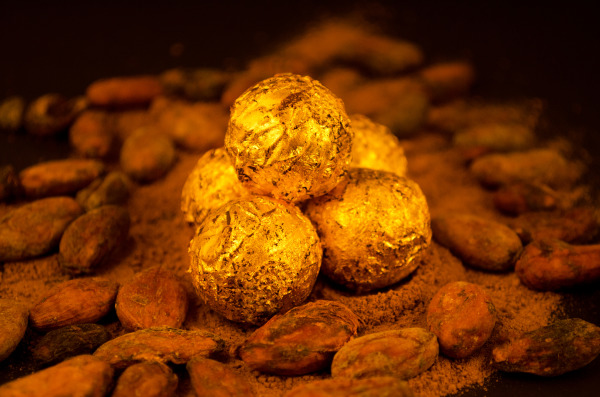 24 carat edible gold truffles from DeLafée