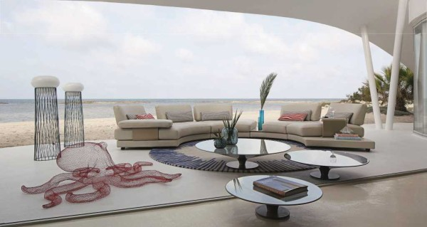 Available at Roche Bobois: Beach Bay Modular Sofa designed by Phillipe Bouix