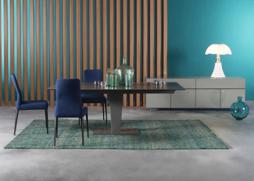 Available at Roche Bobois Mumbai: Nephtis Dining Tables designed by Studio Roche Bobois and Aida Chairs designed by Area 44