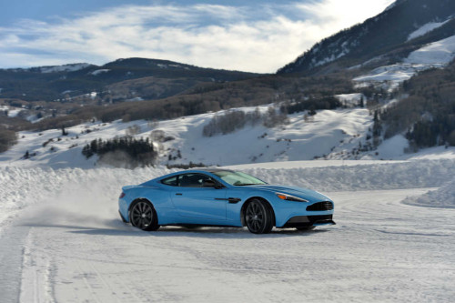 Take the Aston Martin Vanquish for a spin on the bespoke Aston Martin track