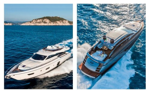 Ferretti Yachts 750 and the Pershing 62