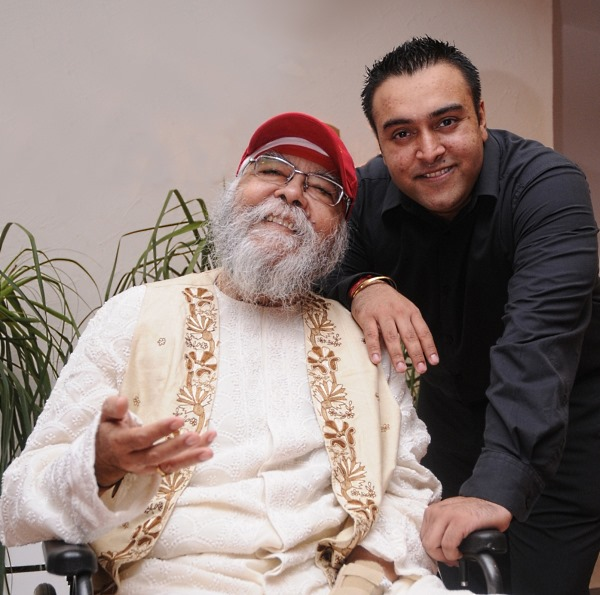 Jiggs Kalra with his son Zorawar