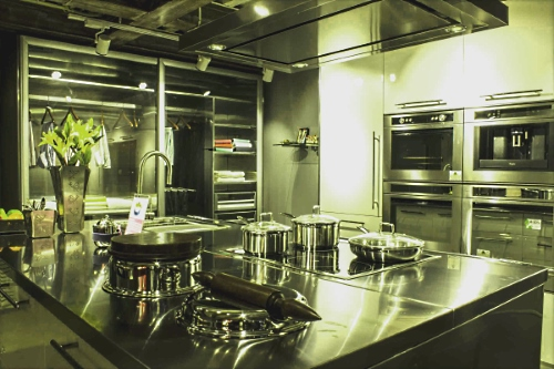 Stainless Steel modular kitchen by arttd'inox