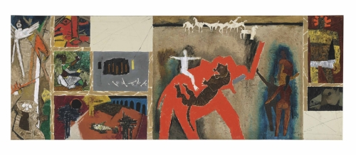 A painting by M.F. Husain will be auctioned at the South Asian Modern and Contemporary Art sale