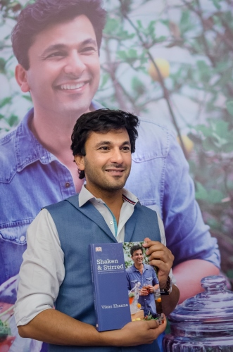 Chef Vikas Khanna at the launch of Shaken and Stirred.