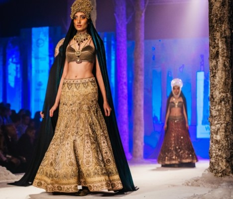 The Bolshoi Bride by JJ Valaya at the BMW India Bridal Fashion Week