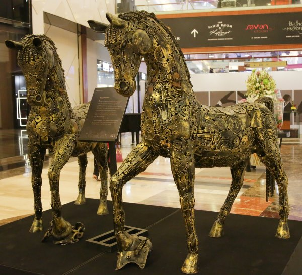 Metal Art by Ilyas Ahmed displayed at High Street Pheonix