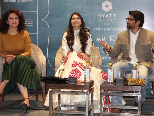 Tisca Chopra, Maria Goretti and Arshad Warsi at the launch of 'From My Kitchen to Yours'