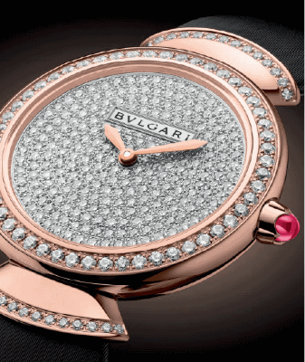 Diamond-pave dial watch from the Diva Collection
