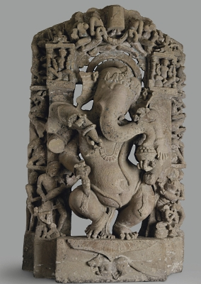 Third India Sale: Sandstone figure of Ganesha from the 10th century