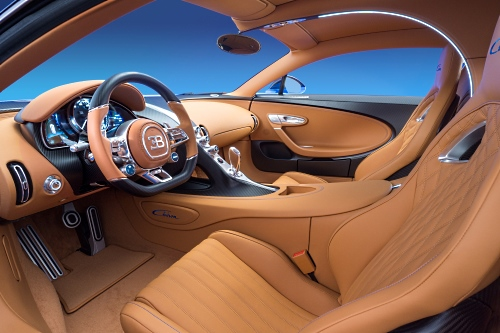 Interiors of Bugatti Chiron