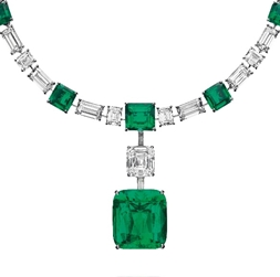 The Colombian emerald and diamond necklace, by Cartier, from the collection of H.S.H. Gabriela Princess zu Leiningen