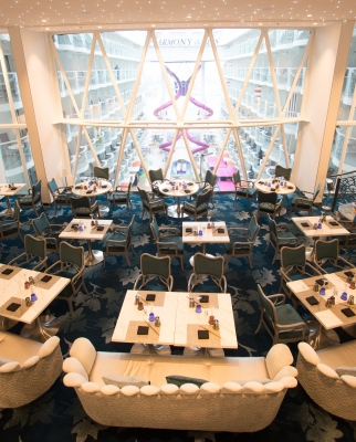 Wonderland, a double-storey restaurant aboard Harmony of the Seas Wonderland, a double-storey restaurant