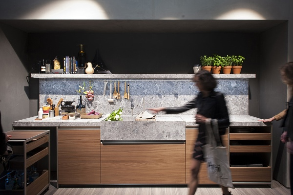 Dada's Hi-Line kitchen. Photo by Luciano Pascali; Courtesy Salone del Mobile.Milano