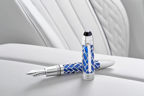 Montblanc fountain pen presented with BMW Individual 7 Series THE NEXT 100 YEARS