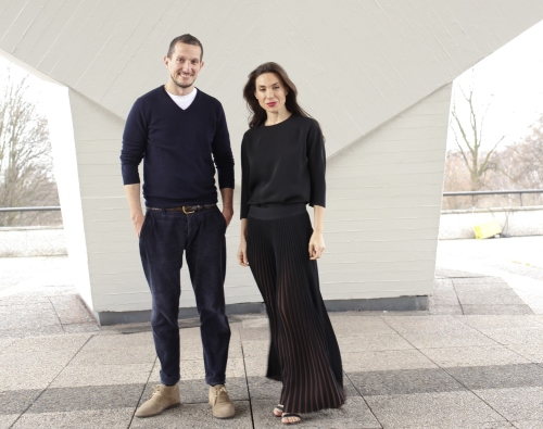 Guillaume Excoffier and Nancy Gabriel of Gabriel & Guillaume pop-up store