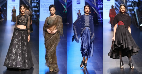 Outfits from Tarun Tahiliani's Autumn Winter Collection showcased at Lakme Fashion Week 2016