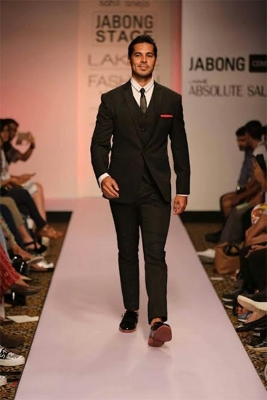 Dino Morea in custom made patent shoes by The Shoe Factory