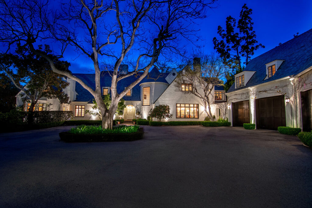 The charming exterior of Lindsey Buckingham's Brentwood Dream Estate