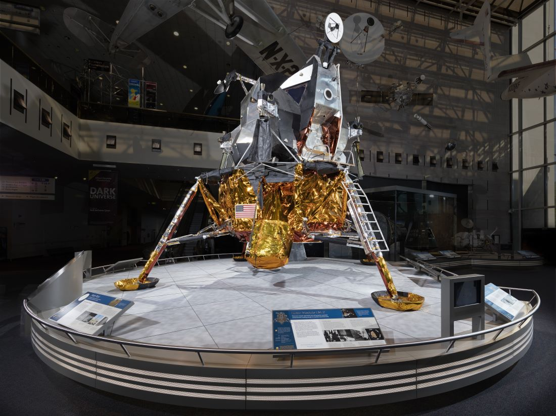 Lunar Module 2 (LM-2) - on display at the Smithsonian's celebrations of the 50th Anniversary of First Moon Landing.
