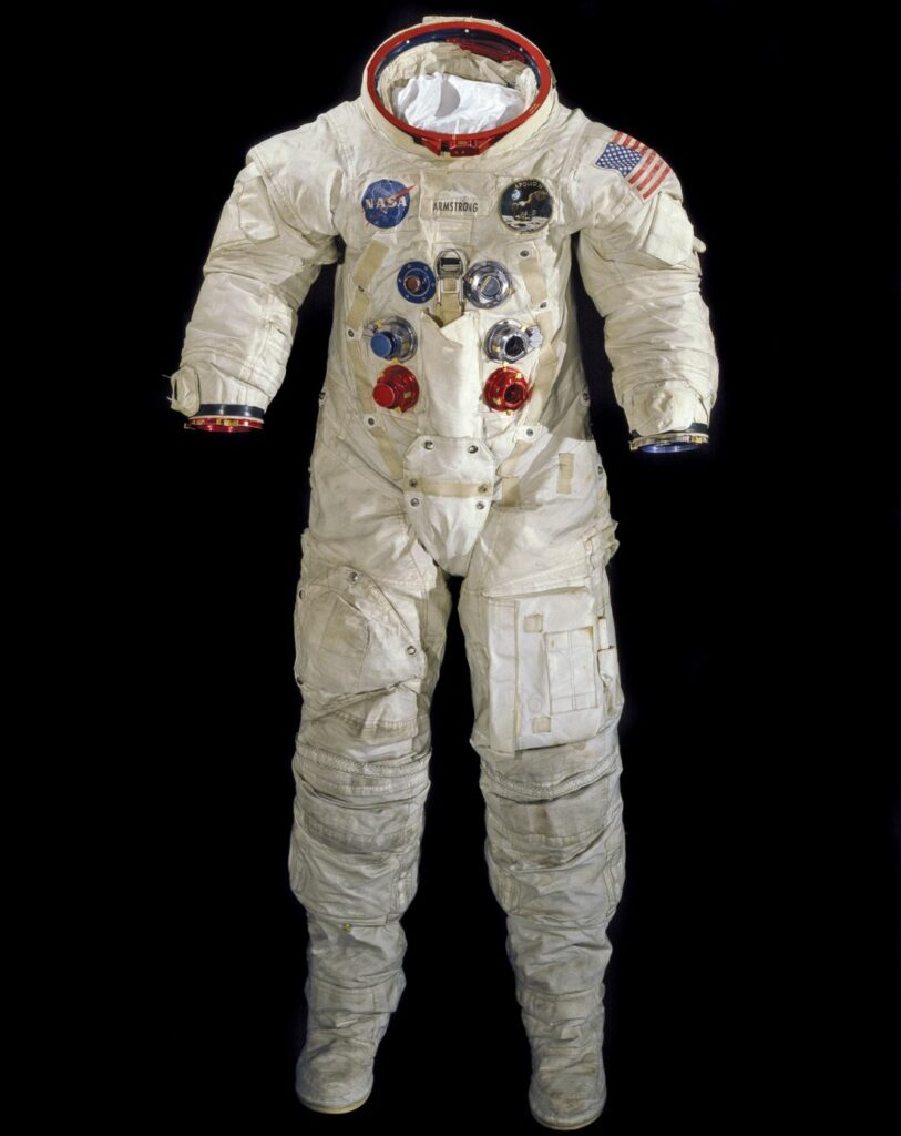Neil Armstrong's Apollo 11 spacesuit - on display at the Smithsonian's celebrations of 50th Anniversary of First Moon Landing.