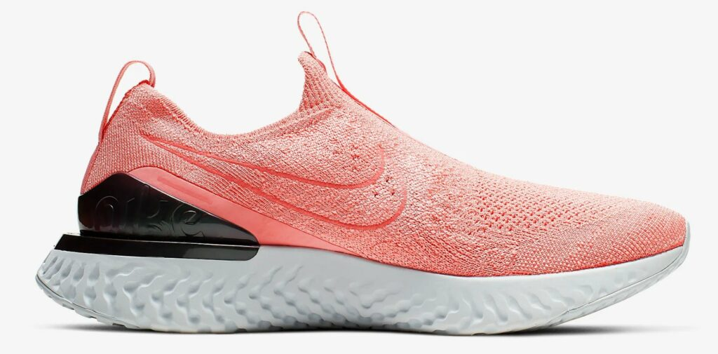 Nike Epic Phantom React Flyknit in coral colour