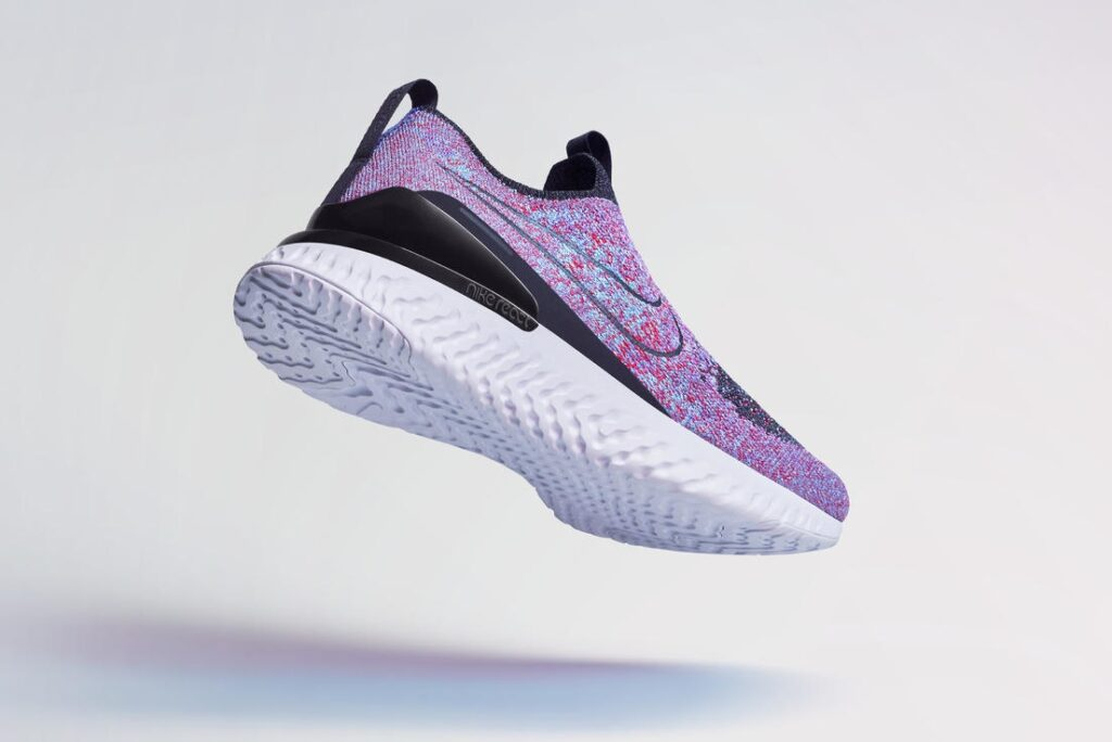 The Nike Phantom React Flyknit is powered by the Nike React sole