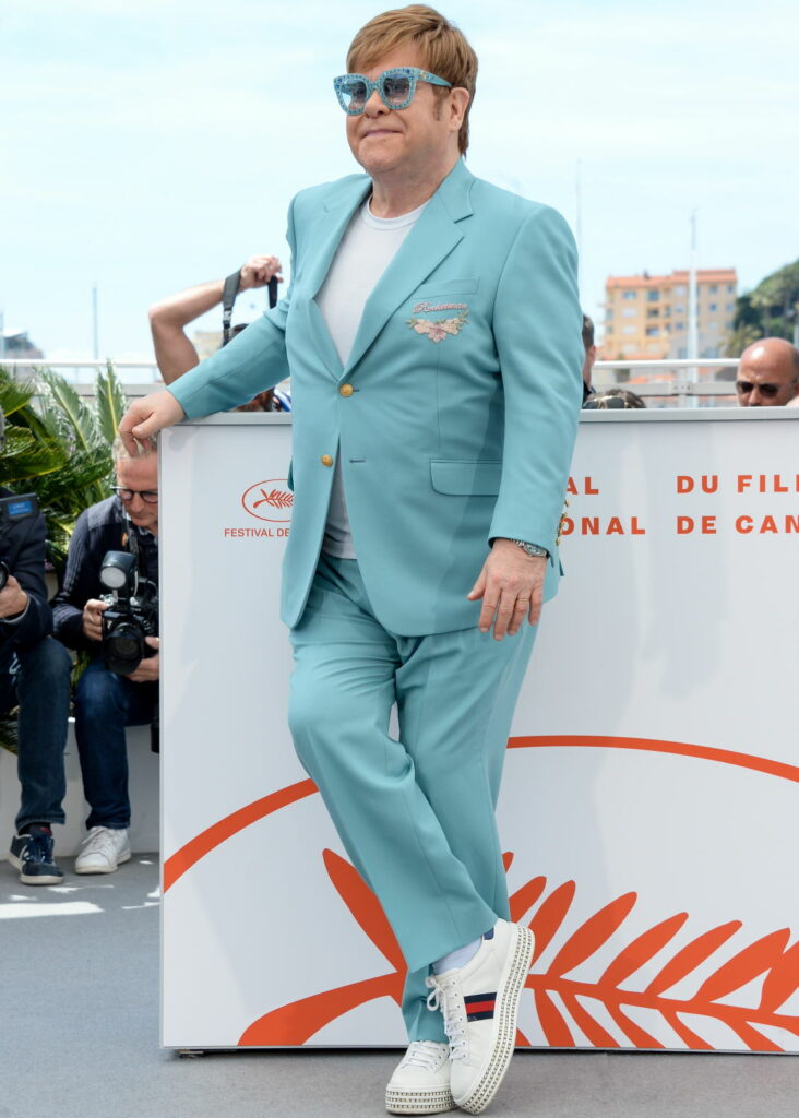Sir Elton John in Gucci Ace - a stylish sneaker for all seasons