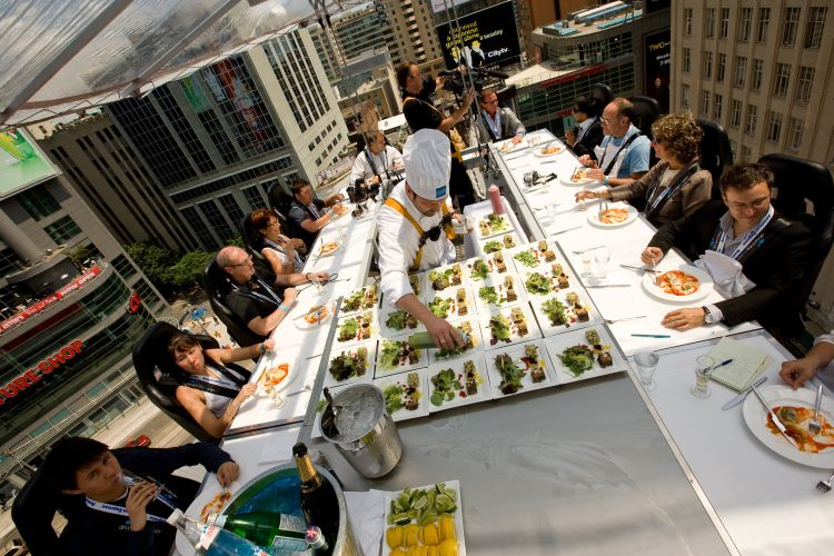 Dinner in the Sky at Toronto, Canada
