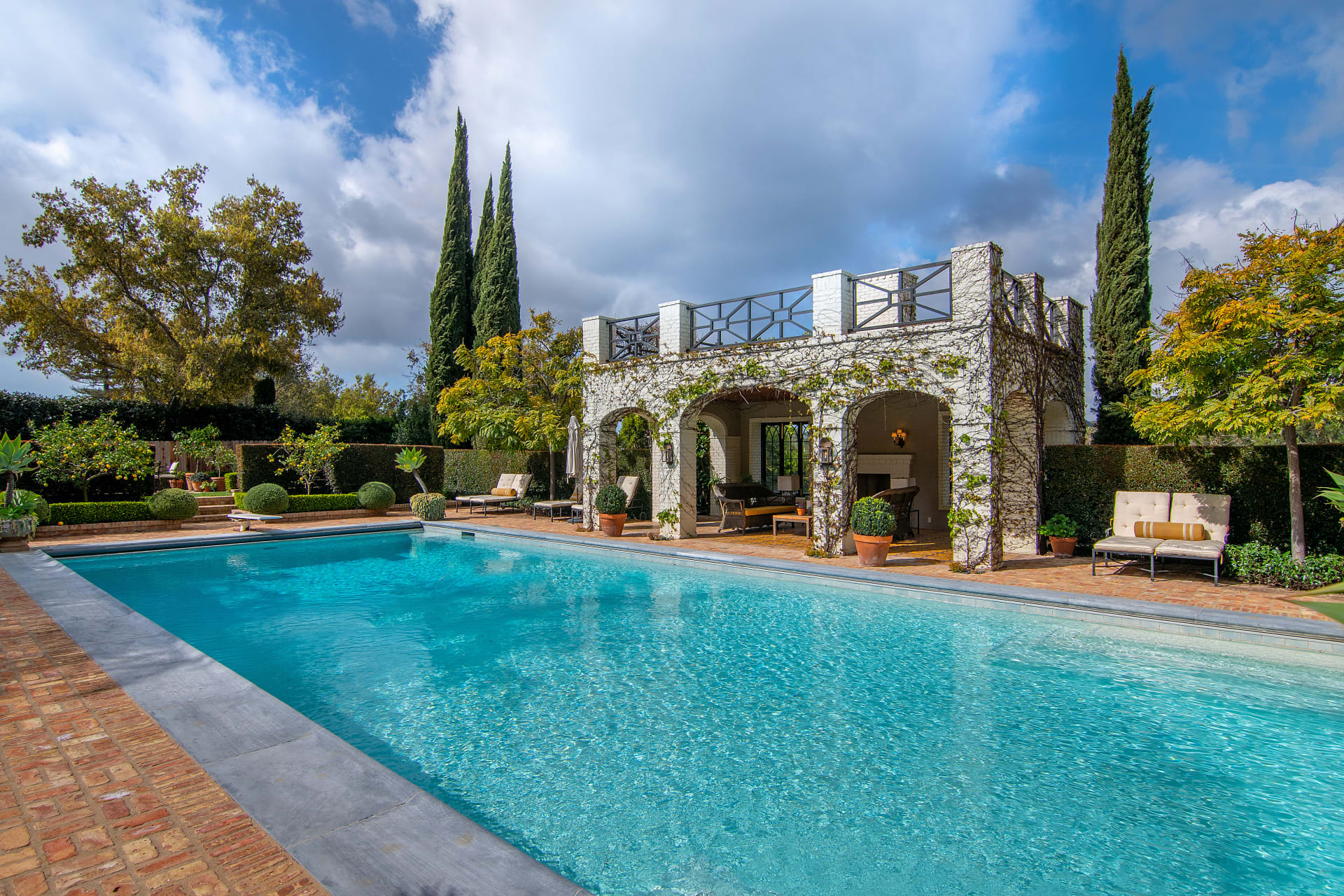 Swimming Pool at Lindsey Buckingham's Brentwood Dream Estate
